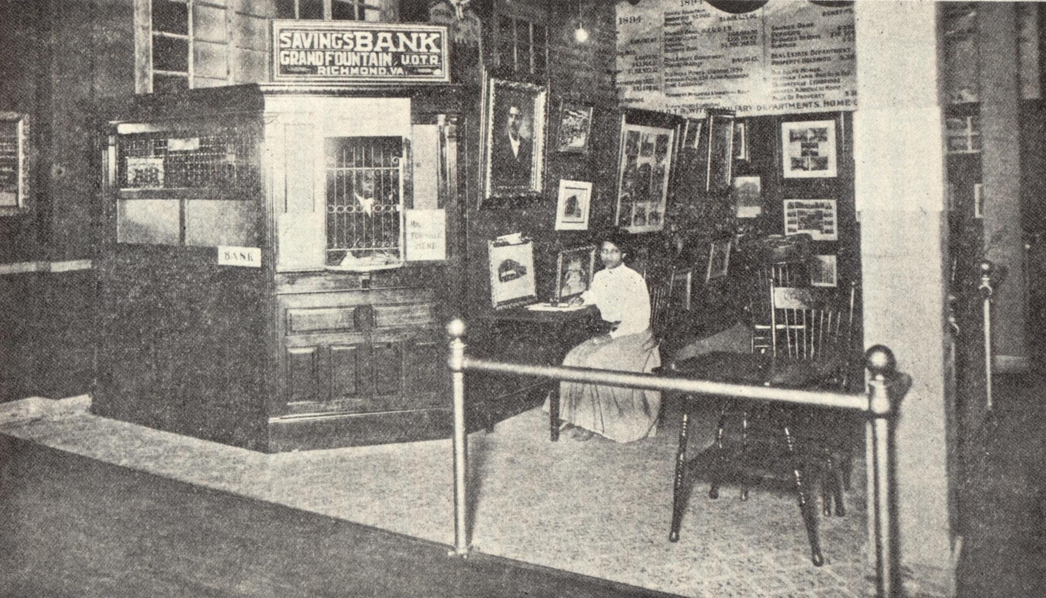 The Negro Building featured a working branch of the black-owned and operated True Reformer's Bank of Richmond