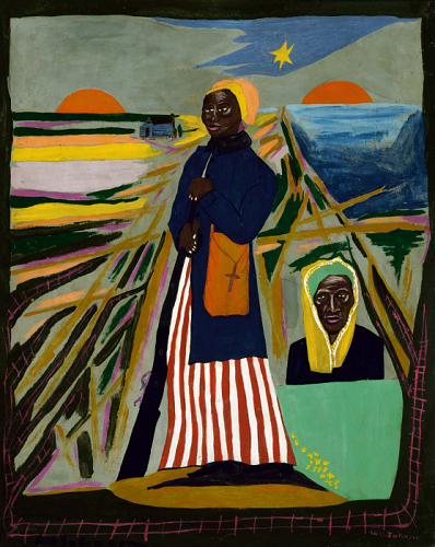 Harriet Tubman, oil on paperboard by William H. Johnson, about 1945.