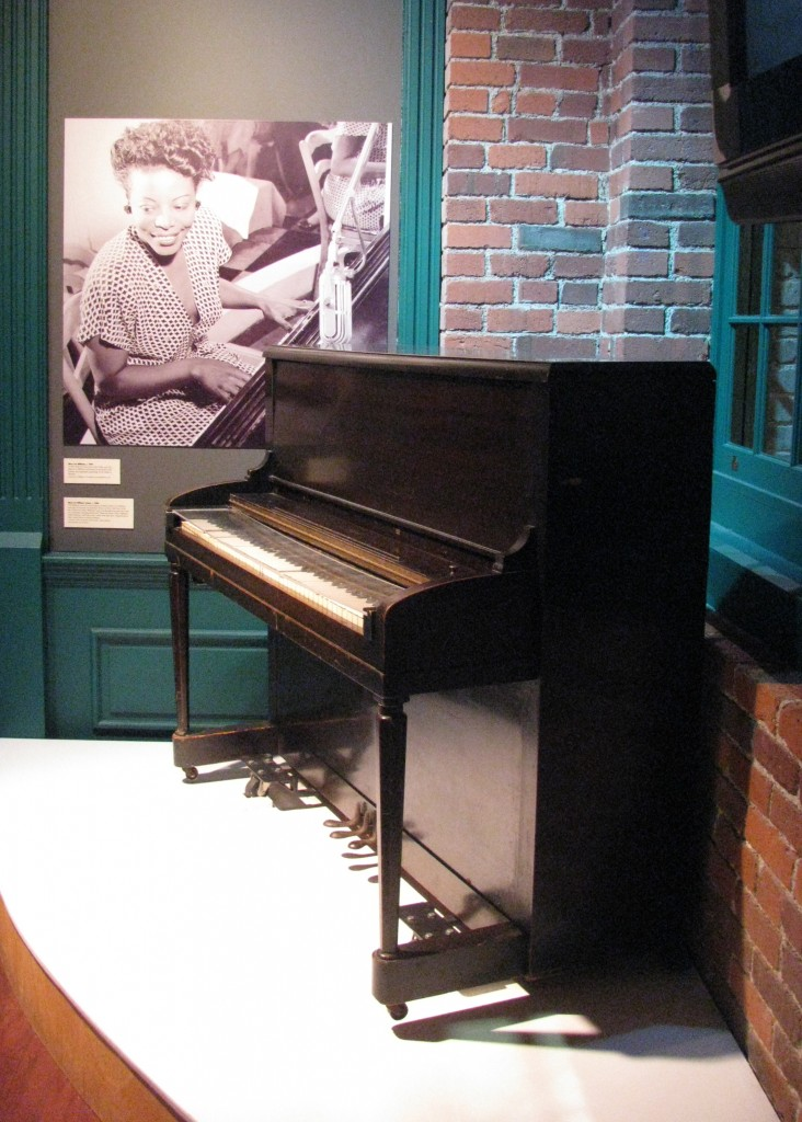 Mary Lou Williams' piano, c. 1940s, on view in a re-creation of the Crawford Grill in the Senator John Heinz History Center's exhibition, Pittsburgh: A Tradition of Innovation.