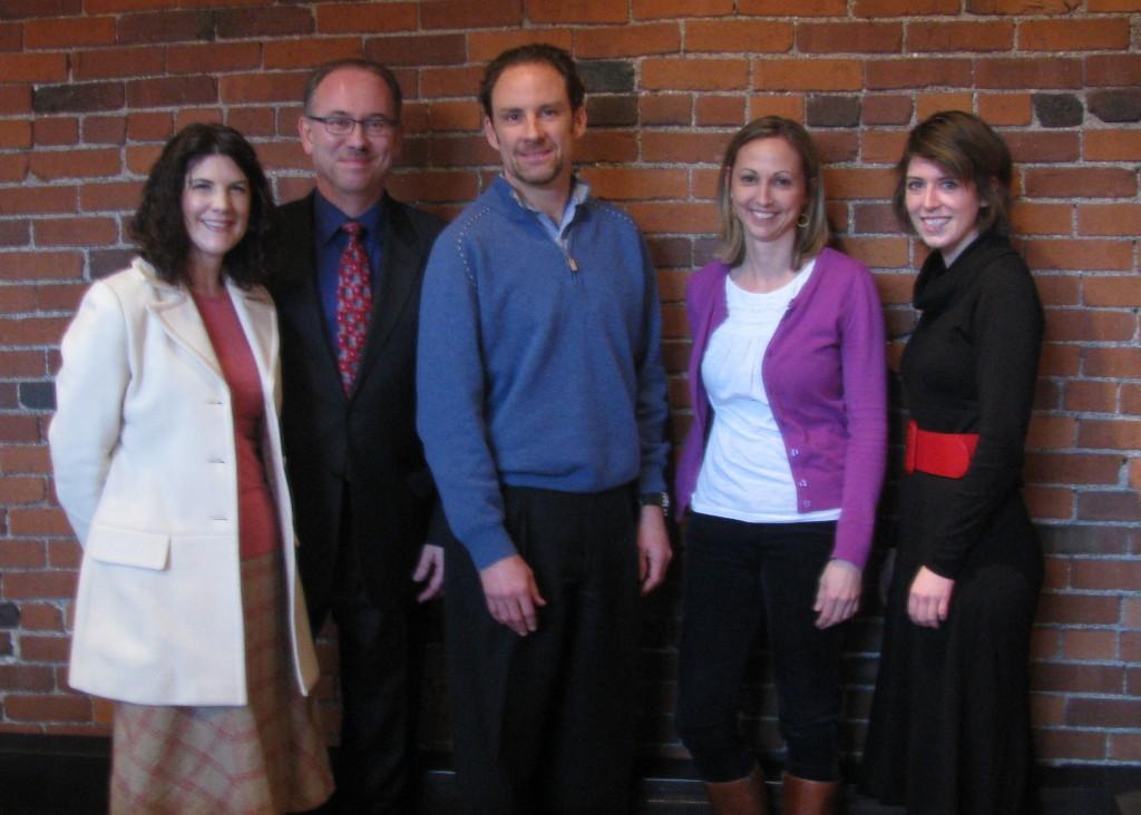 Renée Govanucci and Marty Ashby (MCG Jazz), Dan Holland (YPA), and Sandra Smith and Kate Lukaszewicz (Heinz History Center).