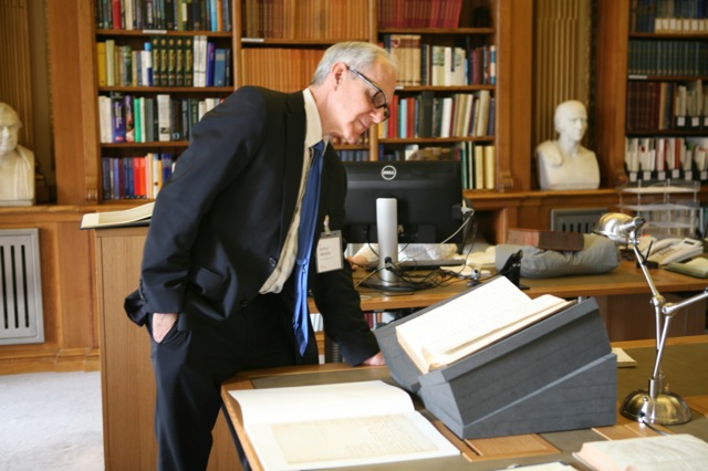 Art Molella in the archives of the Royal Society