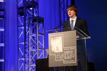 Jake Andraka at the Smithsonian American Ingenuity Awards.