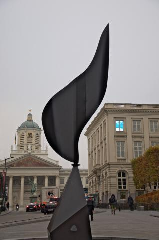 The Whirling Ear by Alexander Calder was a commission made for the pool in front of the United States Pavilion at the Brussels Universal and International Exhibition.