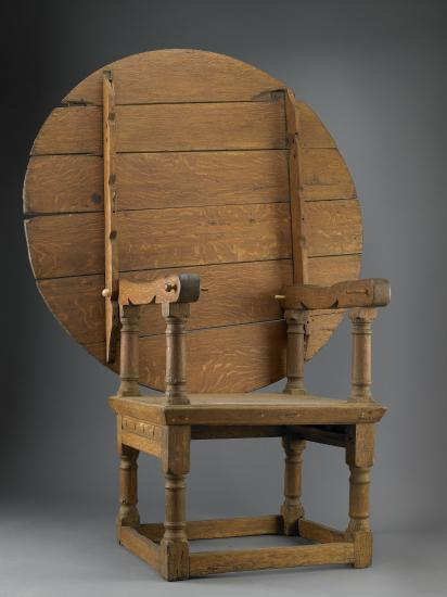 17th century chair converts from a chair into a table