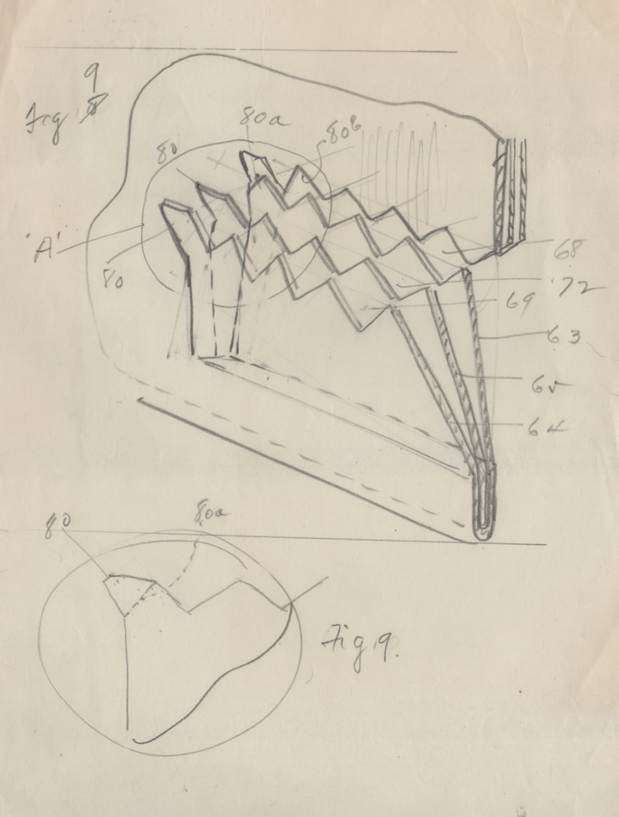 Sketch of cup holder invention.