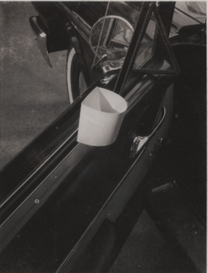 Archival photo of an early cup holder