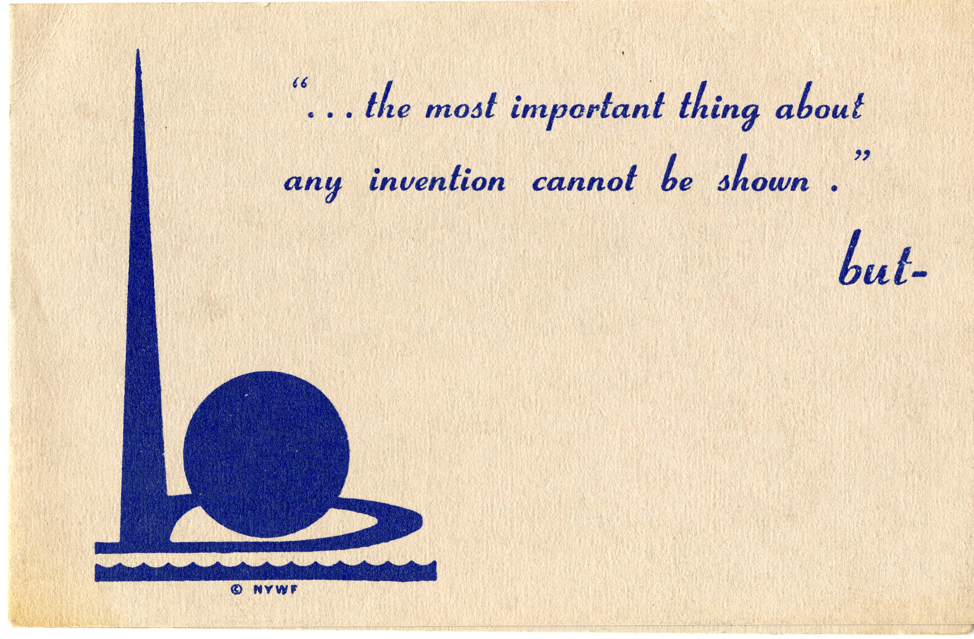 Brochure, Hall of Inventions, New York World's Fair, 1940 (AC0560-0000048)