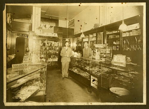 Interior of L. Herder & Son, branch store, 137 South 13th Street, Philadelphia, Pennsylvania, circa 1926-1931