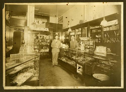 Interior of L. Herder & Son, branch store, 137 South 13th Street, Philadelphia, Pennsylvania, circa 1926-1931