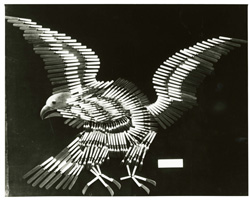 American eagle made of knives and forks by L. Herder & Son, undated