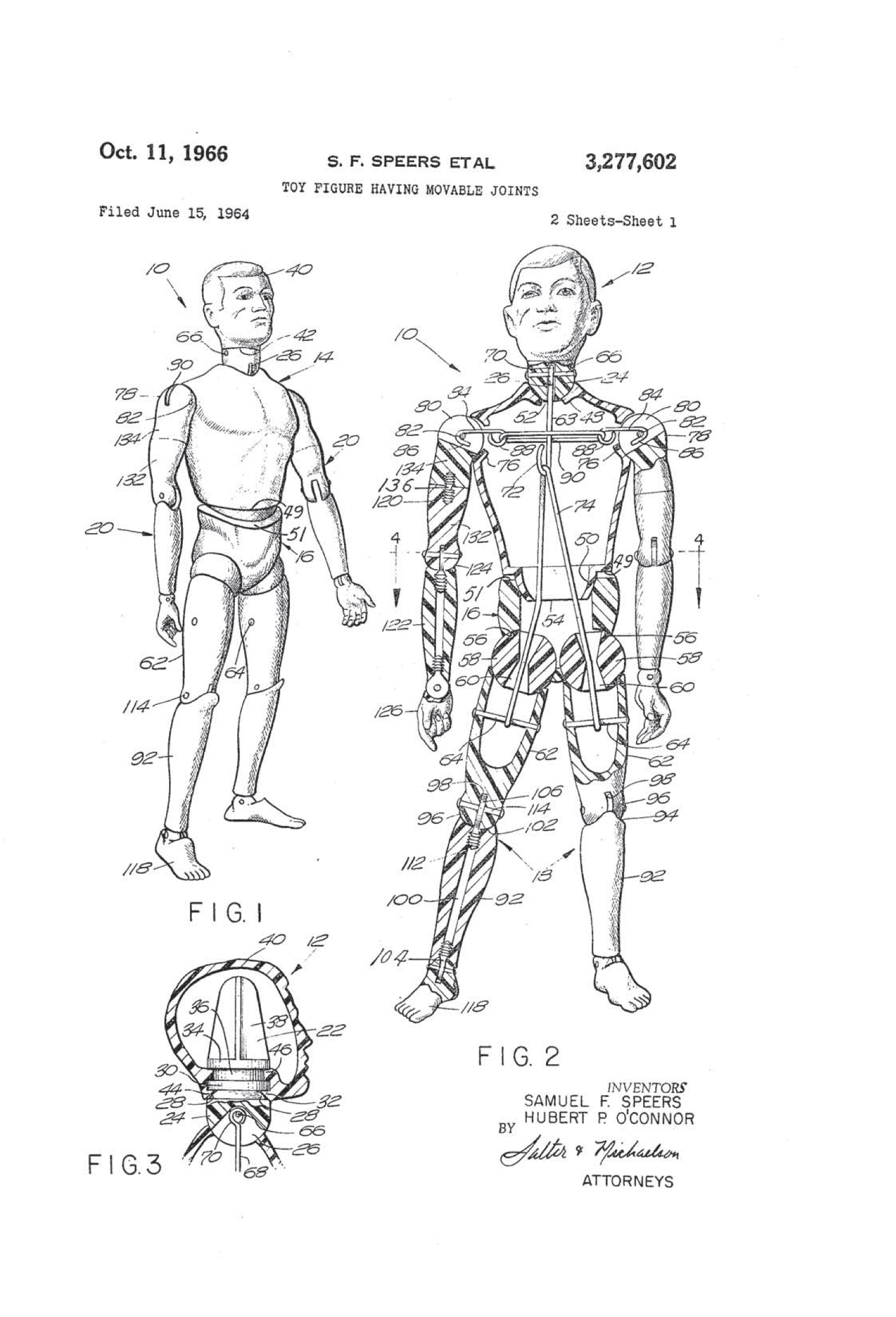 Drawing from the patent for G.I. Joe