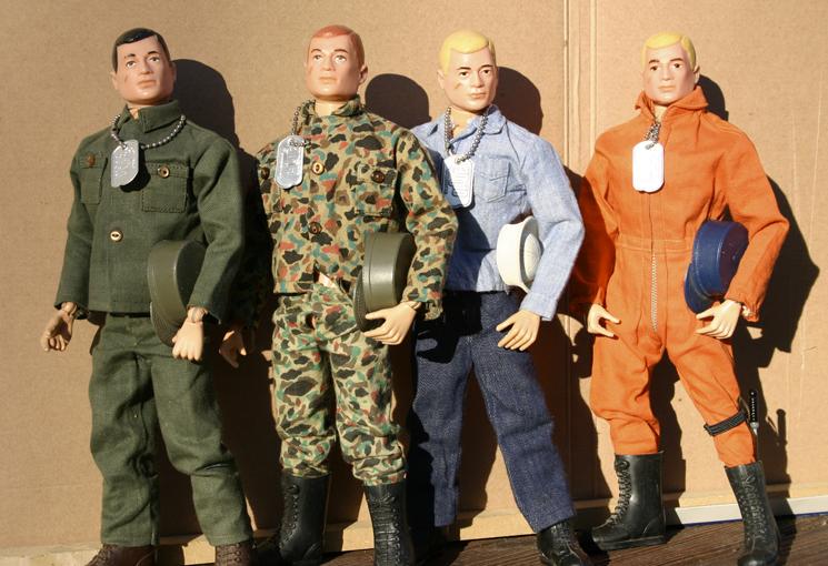 Several original GI Joe figures from 1964.