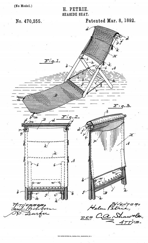 Image of patent for seaside seat