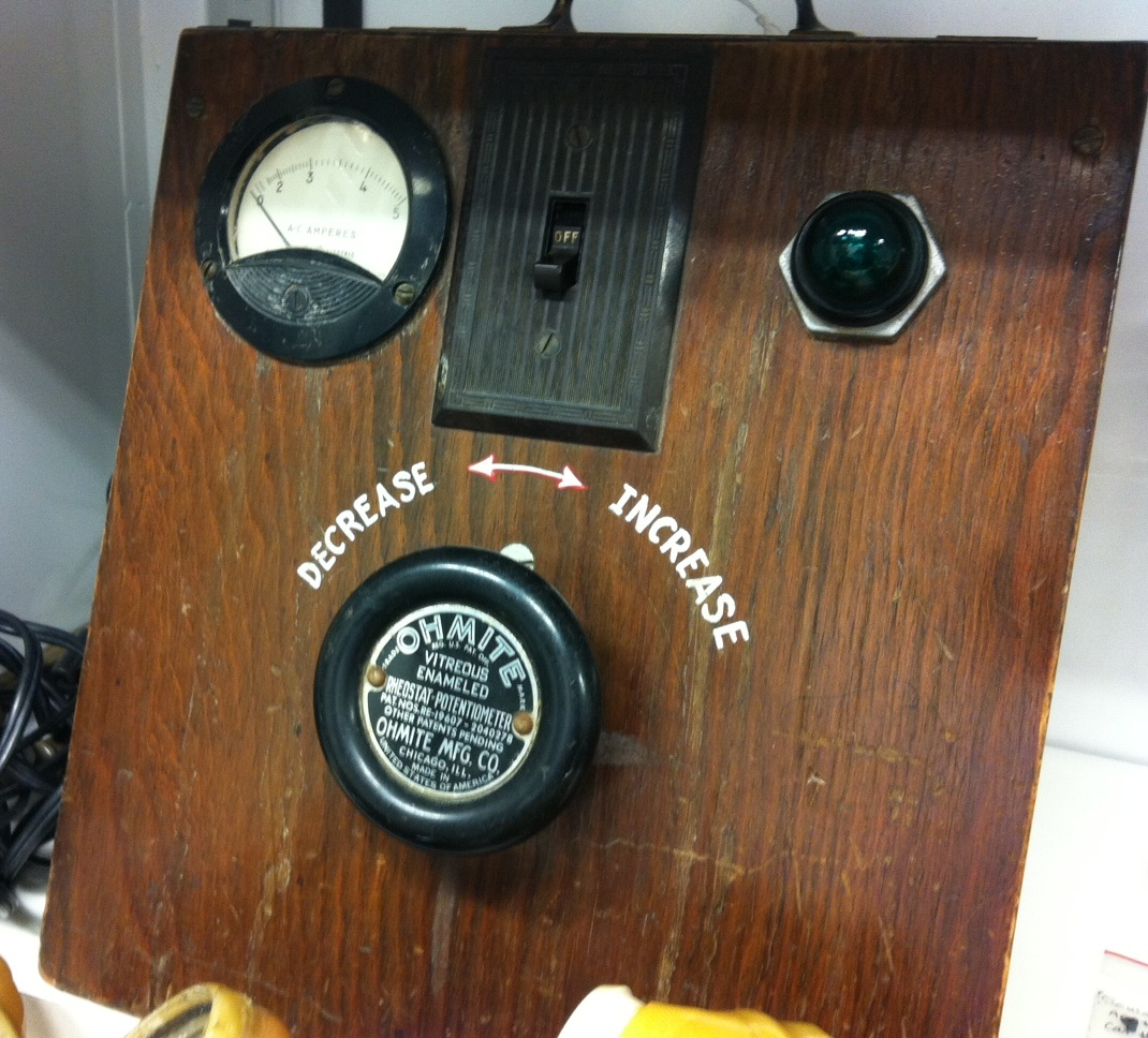 A prototype of an early defibrillator.