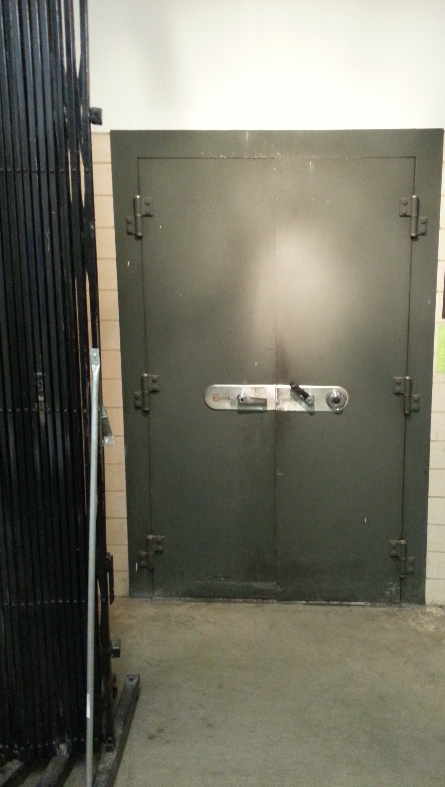 Old-fashioned vault door.