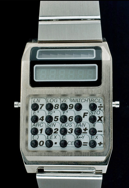 Chronar solar calculator watch, around 1977