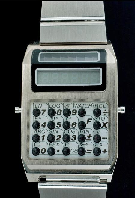 Chronar solar calculator watch, around 1977