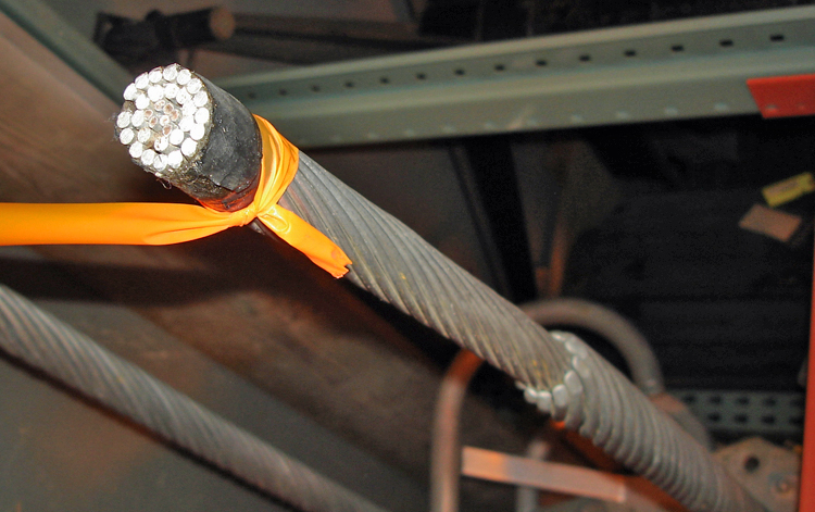 Power cable for 345,000 volt system, around 1970