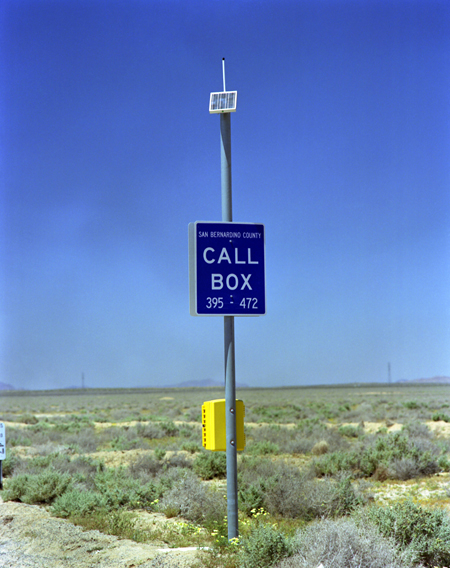 Solar panel on a call box