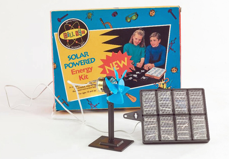 Bill Nye-branded  solar powered energy kit, 1995