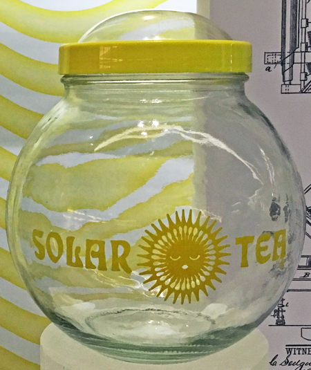 Solar tea maker, around 1983