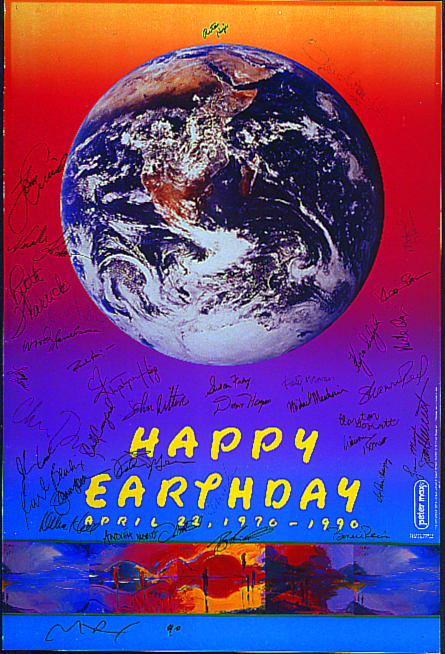 Earth Day twentieth anniversary poster 1990