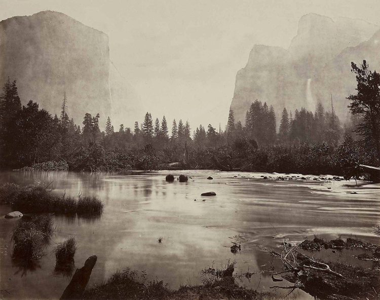 Rocky Ford, Yosemite valley, by Eadweard Muybridge, about 1860.