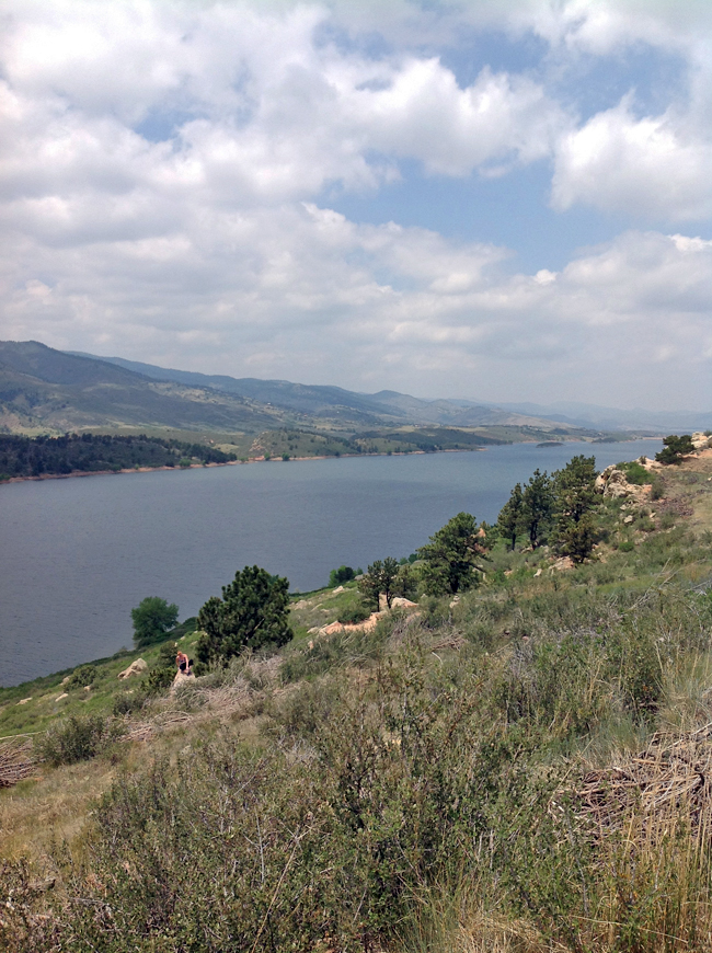Horsetooth Reservoir in Fort Collins, Colorado