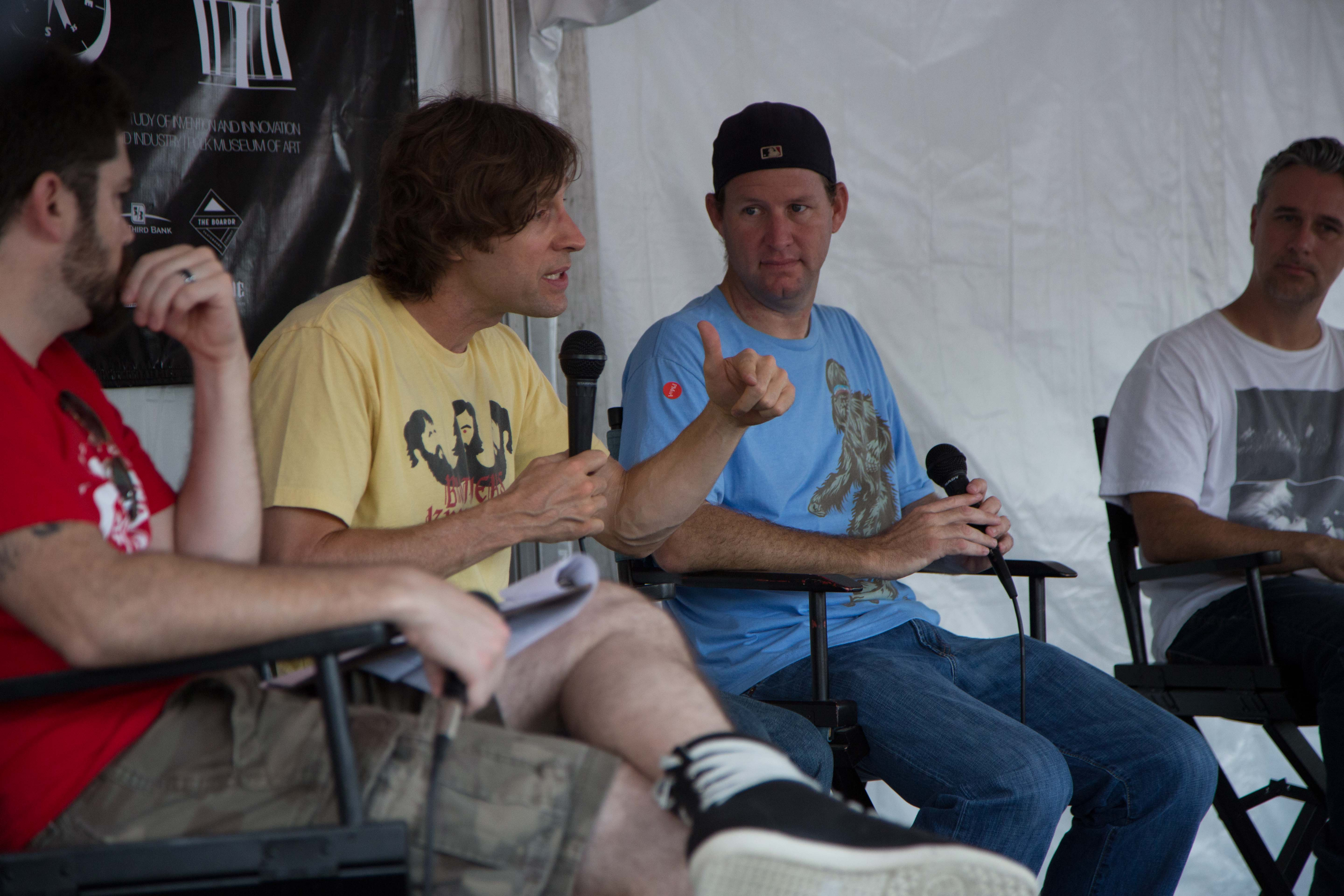 Rodney Mullen and Chad Cardoza at Innoskate in FL
