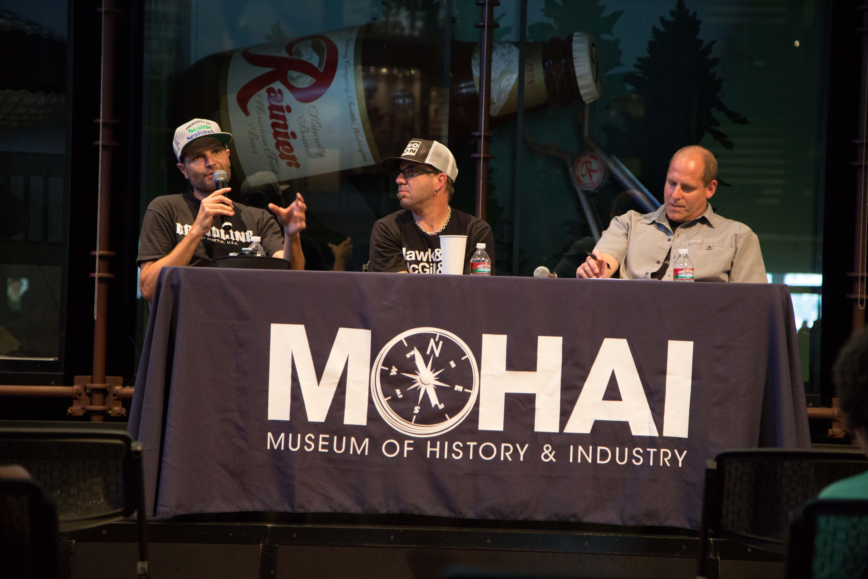 Micha Shapiro, Matthew Lee Johnston, and Jeffrey Brodie at Innoskate in Seattle