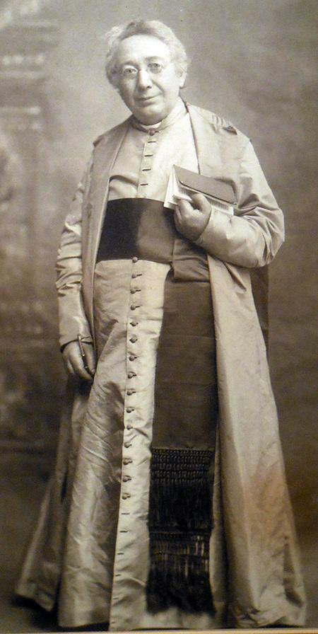Full-length photo of Bouchet in clerical robes