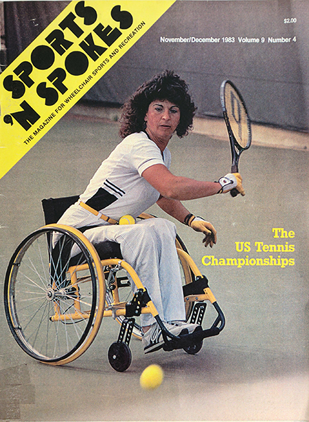 Magzine cover showing Hamilton playing tennis