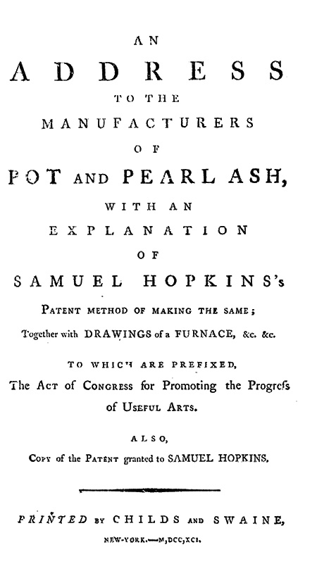 Title page of Hopkins's address to manufacturers