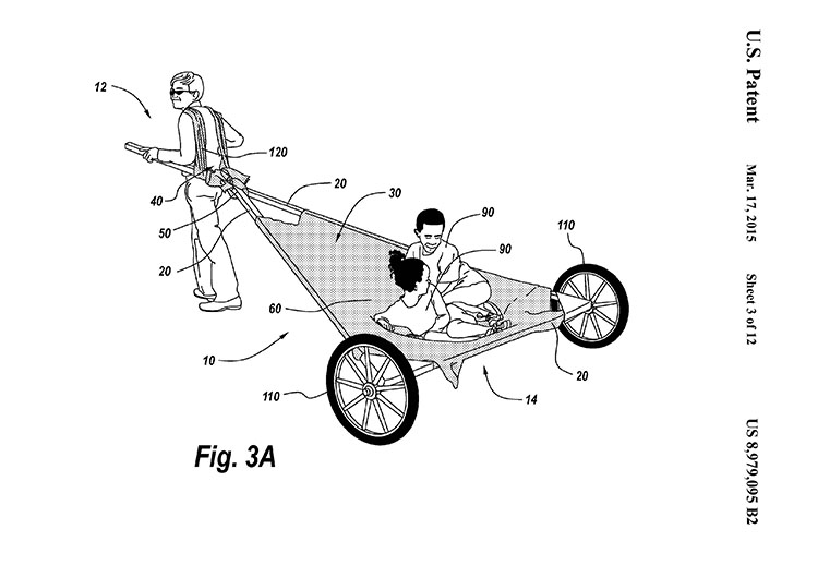 Figure from patent showing travois design and use