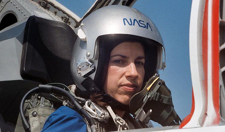 Ochoa in plane cockpit