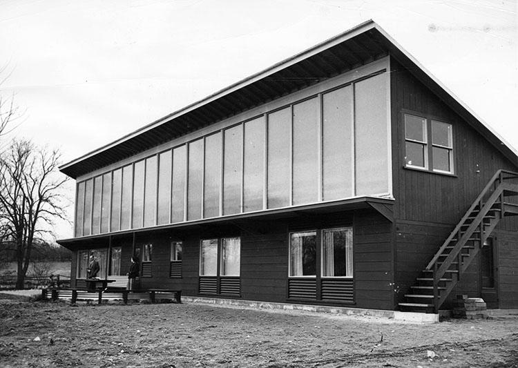 Exterior of solar house