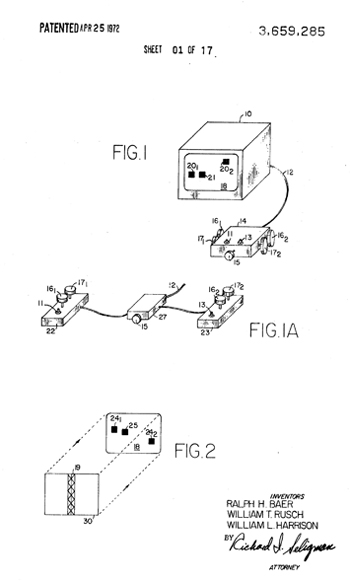 Drawing from Ralph Baer's US Patent 3,659,285