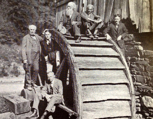 Edison with Henry Ford, Harvey Firestone, and others