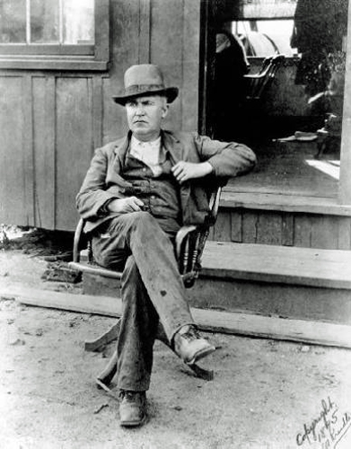 Edison at the ore mill in Ogdensburg, N.J., 1895
