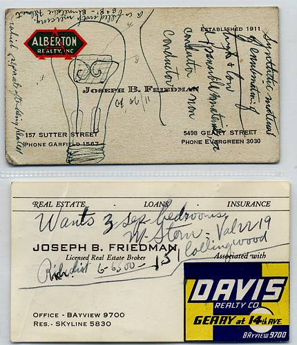 Image of Joseph Friedman business cards