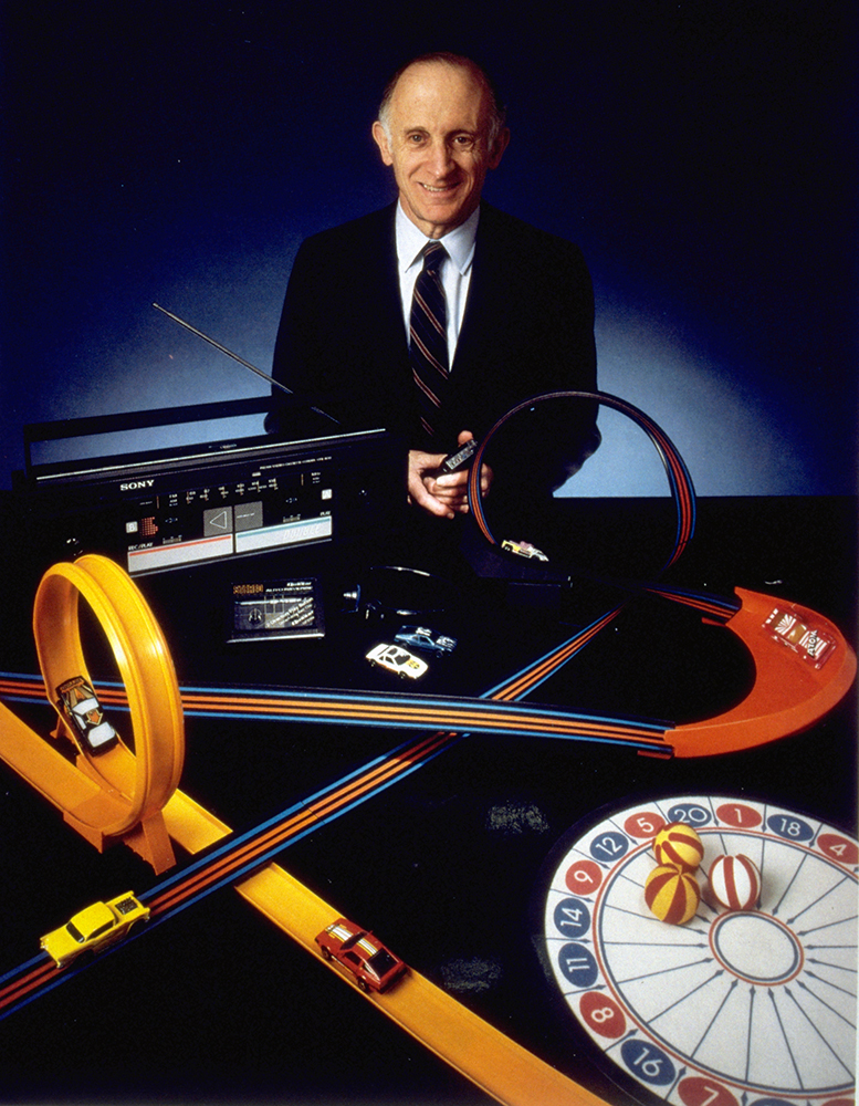 Image of Jerry Lemelson with toys