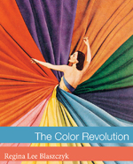Cover of The Color Revolution, showing an illustration of a woman in the middle of a swirl of colorful fabrics