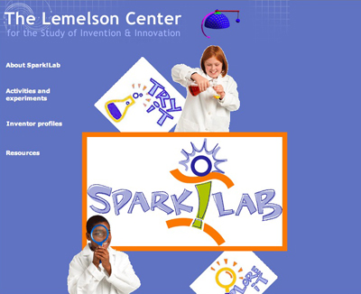 Lemelson Center Spark!Lab website, 2009
