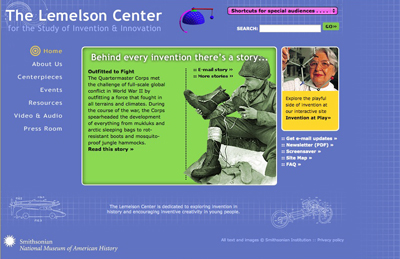 Lemelson Center website, 2004