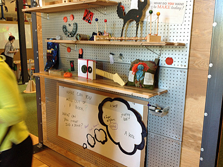 Makeshop's movable, reconfigurable tables, pegboards, and cabinets create the ultimate flexible environment. Photo by Joyce Bedi.