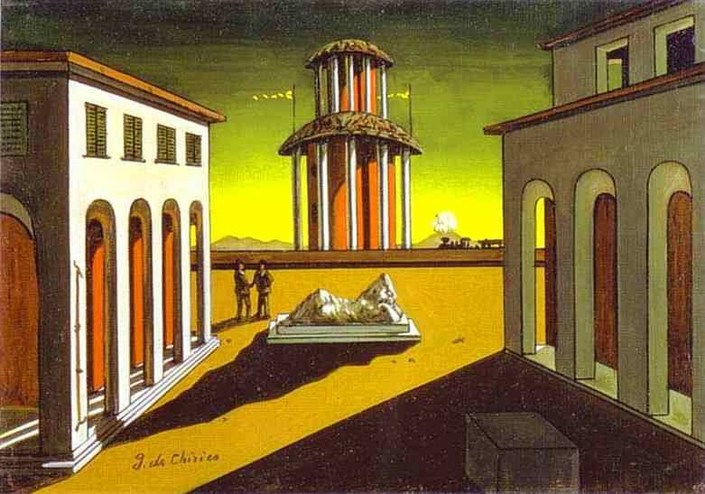 Image of the painting Piazza d'Italia by Giorgio de Chirico