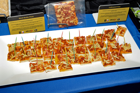Shelf-stable pizza samples for combat feeding research and engineering