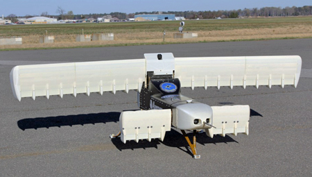 Experimental Vertical TakeOff and Landing Aircraft on tarmac
