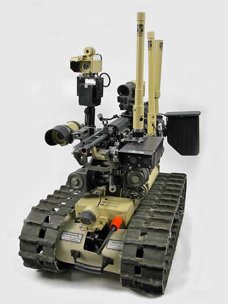 Special Weapons Observation Reconnaissance Detection System (SWORDS) armed unmanned ground vehicle