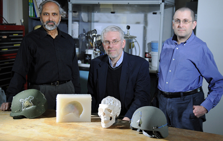 Scientists who use GelMan surrogates to test helmets and armor for the military